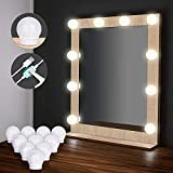 Hollywood Style LED Vanity Mirror Lights Kit[Upgraded], Elindio Makeup Light with 10 Dimmable LED Bulbs & USB for Makeup Vanity Table Set in Dressing Room/Bathroom-Waterproof(Mirror Not Include)