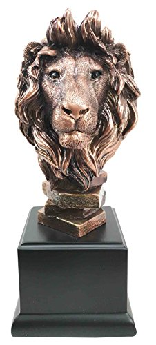 Collectibles Great Gifts Decor Home - King Of The Jungle African Lion Pride Bust Bronze Electroplated Figurine Statue Savanna Animal Kingdom Great Gift For Nature Lovers Beautiful Home Decor Sculpture
