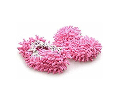 TheWin Dust Mop Slippers Comforable Shoes Floor Cleaner, Pink