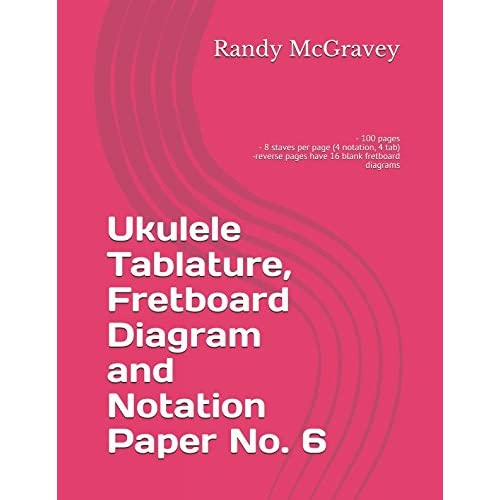 Amazon Com Ukulele Tablature Fretboard Diagram And Notation Paper