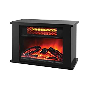 Lifesmart Lifezone Small Room Table Durable Top Infrared Heater with Fireplace Display