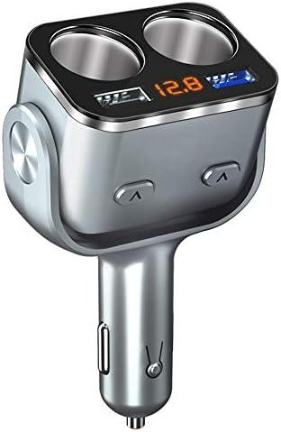 2ソケットシガーライターアダプターアウトレットカースプリッタセーフアップグレードデュアルUSB車の充電アダプタ