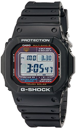 Casio Men's G-Shock GWM5610-1 Tough Solar Black Resin Sport Watch - G-shock Tough Solar Watch