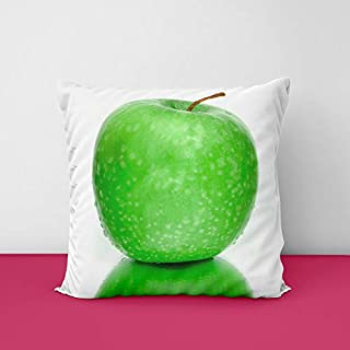 41ZLWn4L2IL. SS320 Green Apple Square Design Printed Cushion Cover