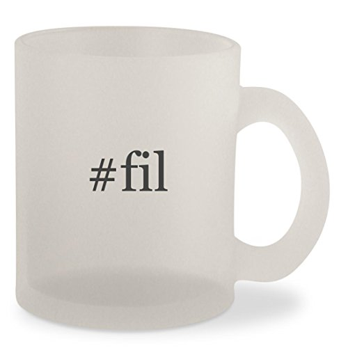 #fil - Hashtag Frosted 10oz Glass Coffee Cup Mug