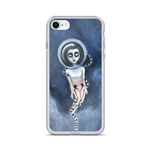 iPhone 7/8 Case Anti-Scratch Phantasy Imagination Transparent Cases Cover Lost Far Away from Home Traditional Painting 21Ã-29 Fantasy Dream Crystal Clear