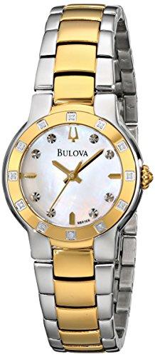Bulova Women's 98R168 MOP Diamond Dial Tu-Tone Bracelet Watch