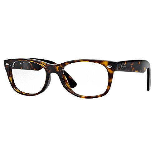 Ray-Ban New Wayfarer Square Eyeglasses,Dark Havana,50 mm by Ray-Ban