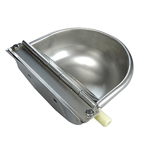 Stainless Steel Automatic Waterer Bowl Horse Cattle Goat Sheep Pig Dog Float Valve Water Trough Farm Supplies Livestocktool by livestocktool.com (Image #4)