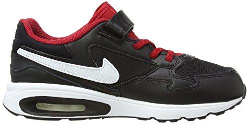 Nike Air Max ST (PSV) Zapatillas de running, Niños Negro / Blanco / Rojo (Black / White-Gym Rd-Brght Crmsn)
