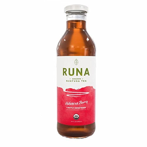 Runa Amazon Guayusa Bottled Tea, Hibiscus Berry, 14 Ounce (Pack of 6)