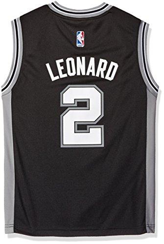 NBA San Antonio Spurs Leonard K # 02 Boys 8-20 Replica Road Jersey, Medium (10/12), Black