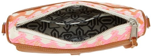 Rebecca Mini Body Handbag MAC Minkoff Orange Canvas Convertible Cross Print Pink w7xnqwgZr