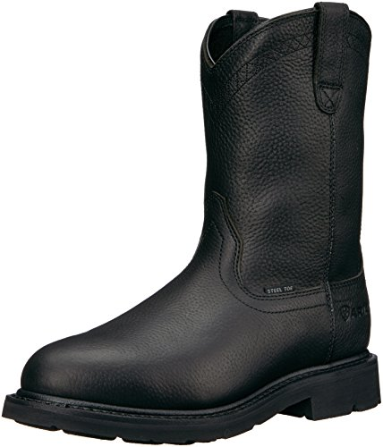 Ariat Mens Sierra Work Boots - Ariat Work Men's Sierra Steel Toe Work Boot, Black, 11 D US