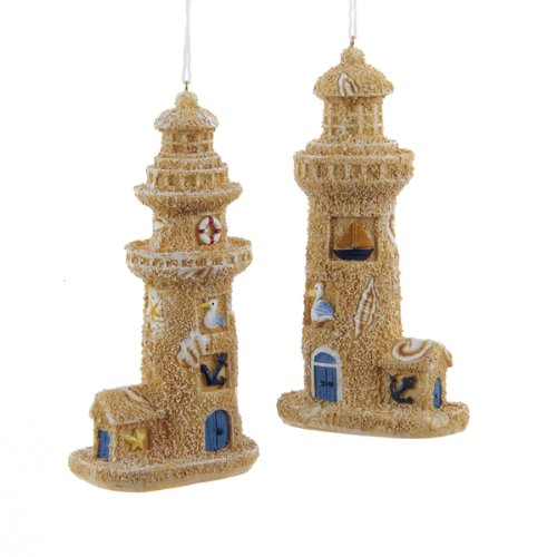 Sand Castle Ornament Set of 2