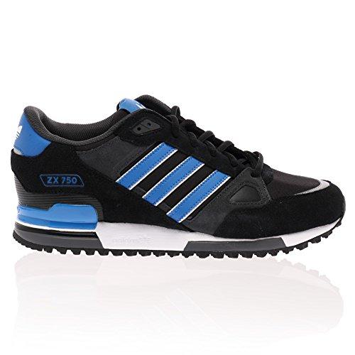adidas ,  Herren Durchgängies Plateau Sandalen mit Keilabsatz Schwarz / Blau / Weiß