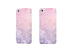 Pink Aurora Photo 3D Case Plastic Hard Customized Personalized 3D Case For iPhone 5 & iPhone 5S