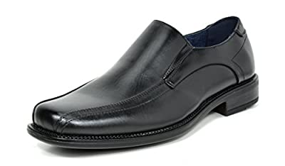 Bruno MARC Men's Formal Loafers Stretch Slip On Leather Lining Square Tip Modern Dress Shoes