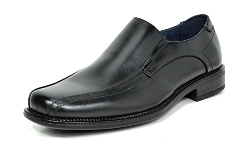 Bruno+MARC+STATE-01+Men%27s+Formal+Loafers+Stretch+Oxfords+Slip+On+Leather+Lining+Square+Tip+Modern+Dress+Shoes+BLACK+SIZE+9.5