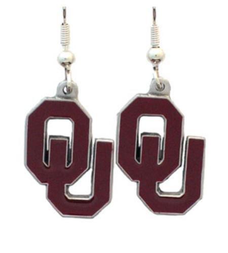 NCAA Oklahoma Sooners Dangle Earrings