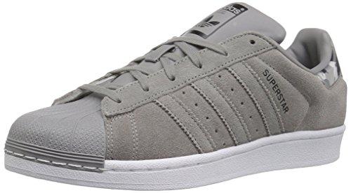 adidas Originals Unisex Superstar Running Shoe, ch Solid Grey/White, 1.5 M US Little Kid Court Kids Skateboard Shoe