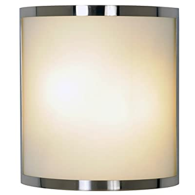 Monument 617604 Contemporary Wall Sconce, Brushed Nickel, 10 In.