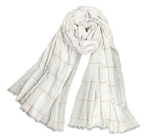 Fête des Mères La mode de printemps foulard de plaid longue section châle frangé