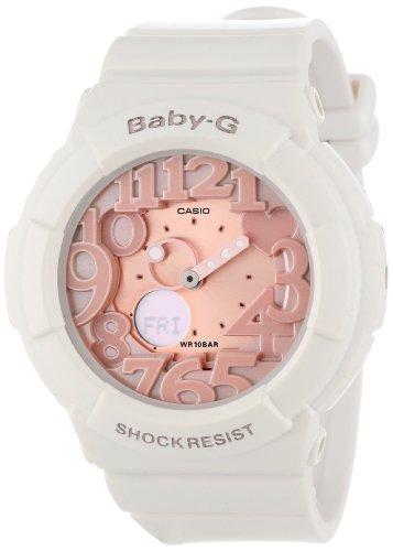 Casio Women s BGA131-7B2 Baby-G Rose Gold and White Resin Digital Watch