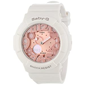 41ZLaluWJML. SS300  - Casio Women's BGA131-7B2 Baby-G Rose Gold and White Resin Digital Watch