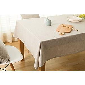 Tablecloth Linen Cotton Patchwork Rectangles Table Cloth Japanese Garden Plain Cover Home Decor