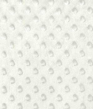 Ivory Minky Dot Fabric - by the Yard