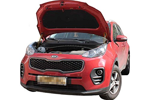 Front Hood Bonnet Shock Absorber Strut Lift Damper x2 pc Installation Rod Kit Fit Kia Sportage IV 2016 2017 2018