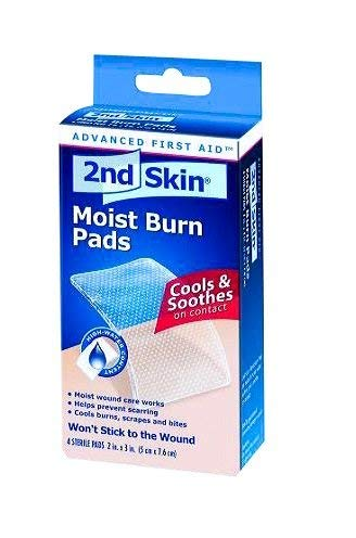 2nd Skin First Aid Moist Wound Care Burn Pad 2'' x 3'' (6 Boxes) by Milliken Medical - MS46320