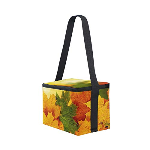 Maple Lunchbox Shoulder Autumn for Leaves Bag Cooler Picnic Background Strap Lunch with RIUA4xWwRq