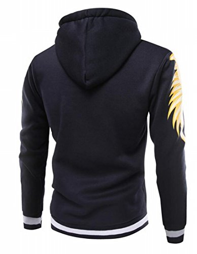 Men's M Sweatshirts Zip blue Print Wings Jackets amp;W Full Winter amp;S Navy gg6rq7R