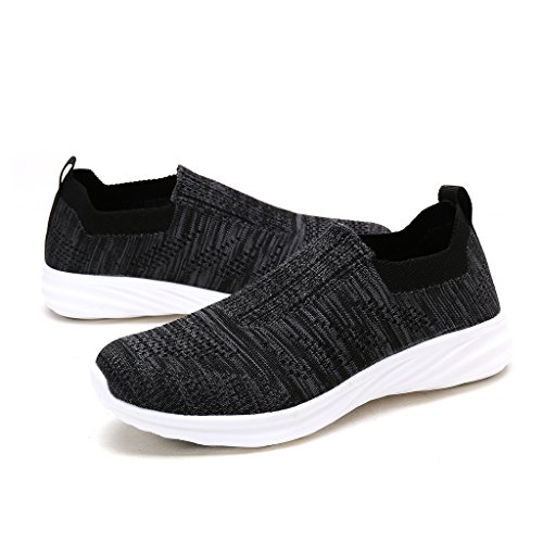 Shoes DREAM W PAIRS Sneakers Grey Women's 171114 Comfort Running Black dnTHXqn