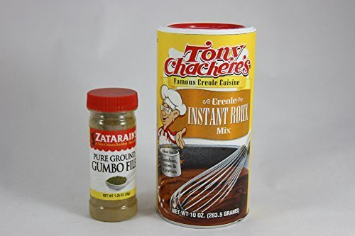 Creole Gumbo File - Tony Chachere's Creole Instant Roux Mix and Zatarains Pure Ground Gumbo File Bundle- 2 Items