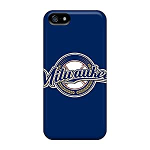 New Premium Flip Case Cover Baseball Milwaukee Brewers 2 Skin Case For Iphone 5/5s