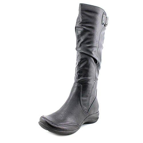 "Hush Puppies Women's Alternative 18"" Boot,Black Polyurethane,US 5.5 M"
