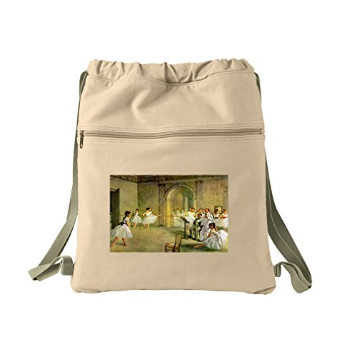 Hall Opera Ballet Rue Peletier (Degas) Canvas Dyed Sack Backpack Bag (Bag Degas Ballet)
