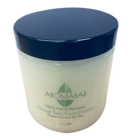 Dead Sea Salt & Coconut Oil Foot Polish Scrub 400g with Peppermint & Tea Tree Aromabar