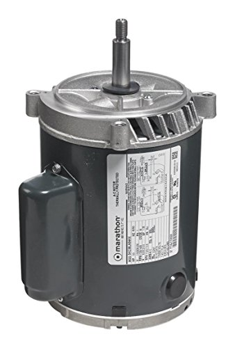 Marathon 5KC39RN114T Jet Pump Motor, 1 Phase, Open Drip Proof, C-Face, Ball Bearing, 3/4 hp, 2900 rpm, 1 Speed, 110/220 VAC, 56C Frame, Capacitor Start (Motor Bearing Frame Ball 56c)