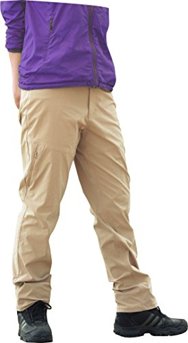 LAD WEATHER Trekking Pants/Water-Repellent/Proof for Water, Wind, Dirt, Oil/Durable/Chino/Wemen's (L, (Training Pants Farm)