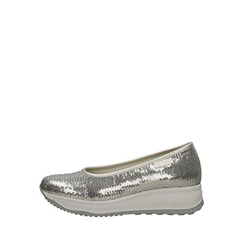 Rucoline 136 Ballerinas Schuhe Damen Silber