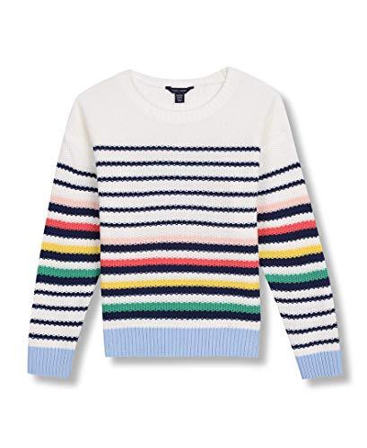Tommy Hilfiger Big Girls' Pullover Fashion Sweater, White Medium (8/10)