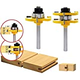 "OCR Tongue & Groove Router Bit Set,1/4"" Shank 3"