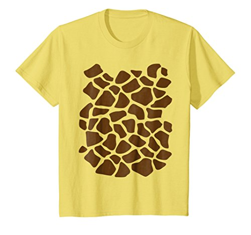 Kids Giraffe Print Shirt, Simple Halloween Costume Idea Gift 12 (Last Minute Halloween Costume Idea)