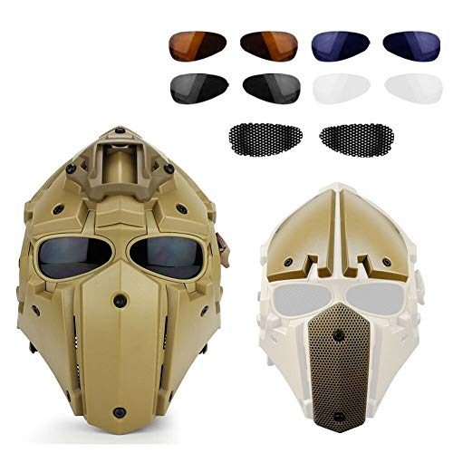 BUG-LPH Outdoor Tactical Helmet, Full Coverage Tactical Outdoor Motorcycle Helmet & Mask Goggles Hunting Paintball Shooting Military Role-Playing Movie Props