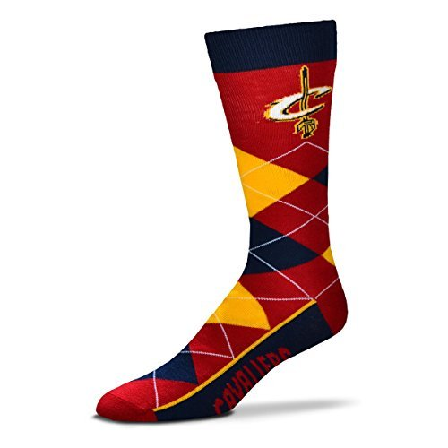 Cleveland Cavaliers For Bare Feet Argyle Crew Socks by For Bare Feet