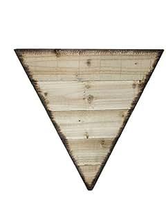 Serenidad pirámide de madera a medida macetas para interior o al aire libre